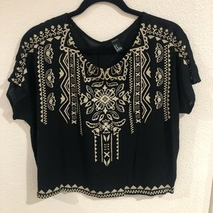 Forever 21 Patterned Crop Top